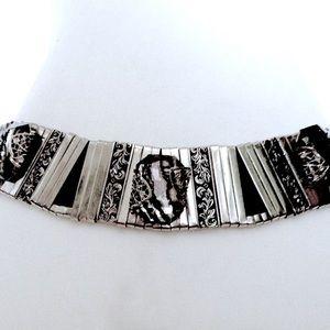 Vintage Jose Cotel Paris Handmade Silver Belt 1980